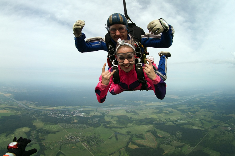 Sports insurance for parachuting